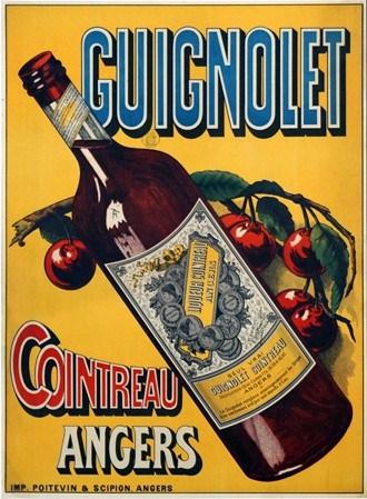 Guignolet Cointreau Angers Vintage Poster