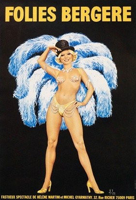 Folies Bergere Vintage Poster