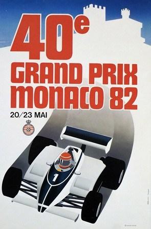 Grand Prix Monaco 82 Vintage Poster