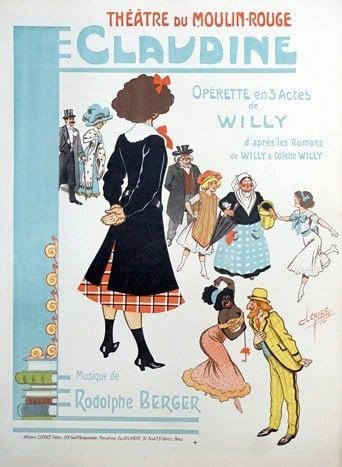 Claudine Vintage Poster