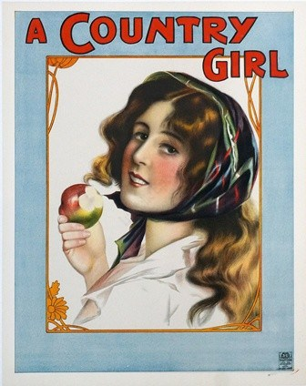 A Country Girl Vintage Poster