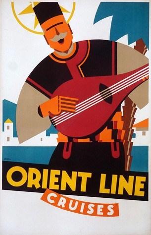 Orient Line Cruises Vintage Poster