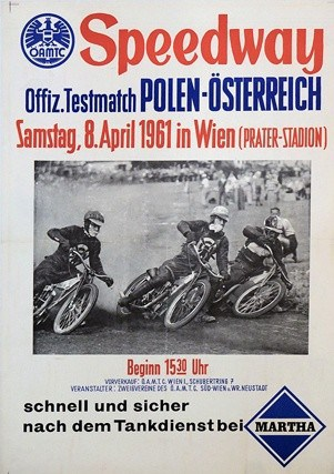 Speedway Vintage Poster