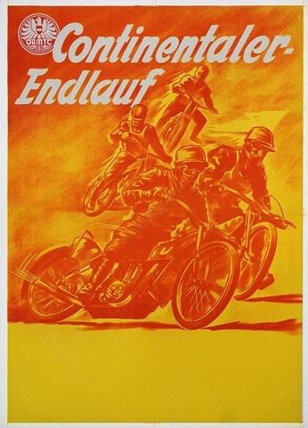 Continentaler Endlauf Vintage Poster