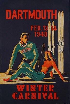 Vintage Dartmouth Ski Poster