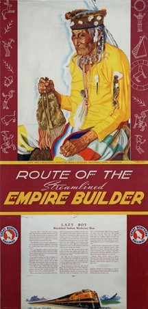 Route of the Streamlined Empire Builder Vintage Posters
