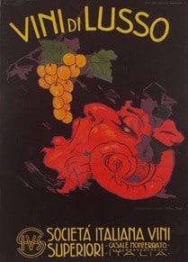 Vini di Lusso Vintage Poster
