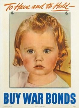 Buy War Bonds Vintage Poster