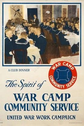 War Camp Vintage Posters
