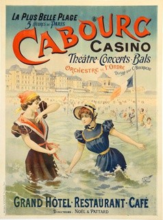 Cabourg Casino Vintage Poster