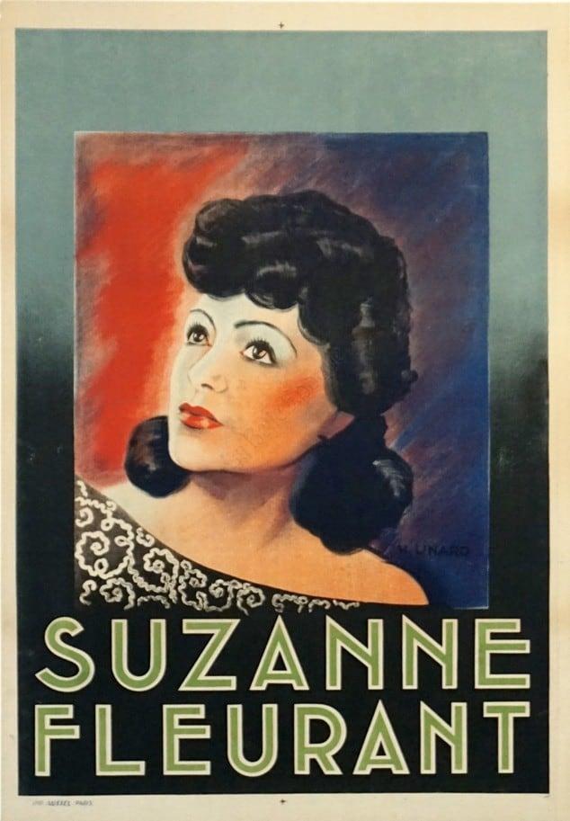 Suzanne Fleurant Vintage Poster