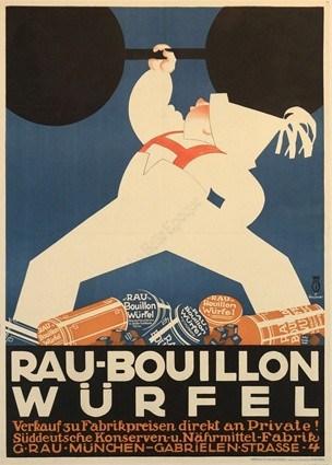 Rau Bouillon Wurfel Vintage Posters